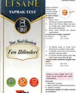 8. Sınıf Fen Bilimleri Çek Kopar Yaprak Test