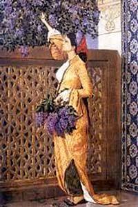 Leylak Toplayan Kız / Osman Hamdi Bey (OHB 009-50x90) (Çerçevesiz)